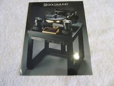 Goldmund Reference Turntable Brochure