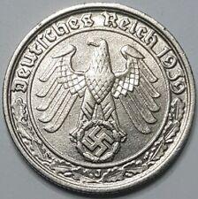 1939-J Germany Third Reich 50 Reichspfennig. UNC. - 54