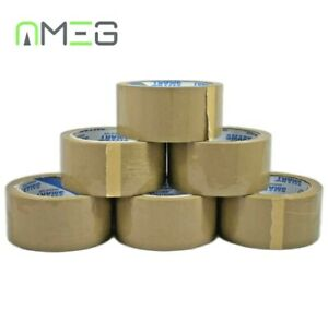 Brown Buff Tape Parcel Packing Packaging Cellotape Box Sealing 48MM x 60M Rolls
