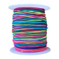 100M Elastic Beading Cord Thread String Rainbow Fabric Crafting Jewelry MakingGR