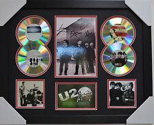 U2 SIGNED MEMORABILIA FRAMED 4 CD LIMITED EDITION