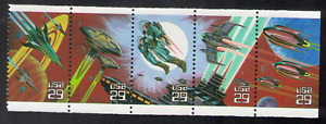 US. 2741-45. 29c. Space Fantacy. 2745a. Booklet Pane of 5. MNH. 1993