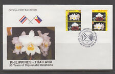 Philippine Stamps 1999 Flowers of Thailand & Philippines Complete set on FDC
