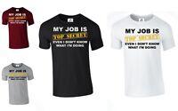 MY JOB IS TOP SECRET T-Shirt Rude Funny Humour Slogan lot Joke Gift (JOB,TSHIRT)