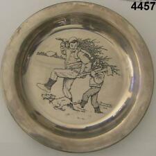 1970 Franklin Mint Sterling Norman Rockwell Plate Bringing Home The Tree #4457