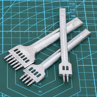Cincel de cuero plano de 2/4/6 puntas para Leathercraft DIY, costura de costura