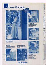 Un Jupon en voile de coton & 8 ouvrages. 08/2002,Vintage. Neuf non découpé.