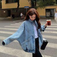 Punky Womens rivets denim jacket spiky studs denim jeans short coat Stone washed