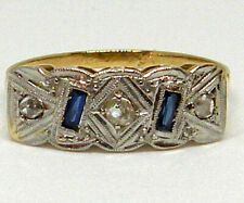 Delicate 18K Gold and Platinum with Diamond and synthetic Sapphires!