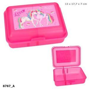 Ylvi and the Minimoomis Box Dose Brotzeitbox mit Trennfach Brotdose pink Einhorn