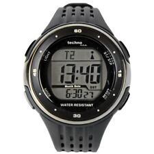 Technoline WT 947 Funk-Armbanduhr Funkuhr Beleuchtet Wasserdicht bis 30m Schwarz
