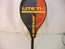 Titanium Alloy Tennis Racquet Dunlop Lite Ti 25and case Great Shape 60468