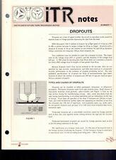 Original Hewlett Packard ITR Instrumentation Tape Recorder Notes #1