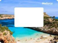 Mallorca Spain Magnet Picture Frame 12 CM Photo Epoxy Travel Souvenir