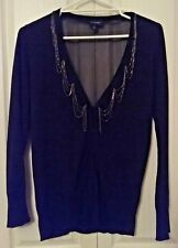 SIZE 14 - SIZE 16 / SIZE M WOMEN'S BLACK LONG SLEEVE WITCHERY CARDIGAN EUC