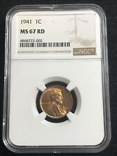 1941 Lincoln Cent NGC MS67RD