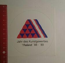 Aufkleber/Sticker: Jahr des Kunstgewerbes Thailand 88 89 (171116218)