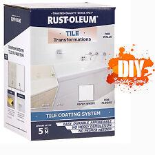 Rust-Oleum Tile Transformation Paint Coating System Walls Floors Aspen White