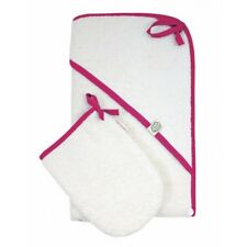 ImseVimse Hooded Towel and Mitten Set Rose