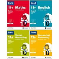 Bond 11+ Maths 10 Minute Tests 7-8 Years 4 Books Children Pack Paperback  Set