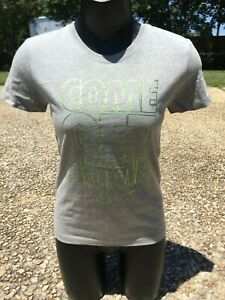 NEW Women's Nike Sportswear COME GET SOME Heather Gray Volt Training T - Shirt