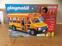 PLAYMOBIL CITY LIFE SCHOOL BUS 5680 IMAGINATIVE PLAYSET AGES 4+ BRAND NEW SEALED