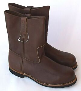 """RED WING SHOES Pecos 9"""" Pull On Steel Toe Boots 966 Mens 9.5  NEW Factory 2nd"""