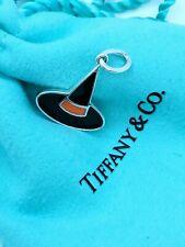 Tiffany & Co Silver 925 Enamel Witch Hat Halloween Charm