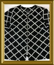NEW MAGGIE BARNES PLUS SIZE WOMANS 5X 34~36 BLACK & WHITE JACKET RETAIL $59