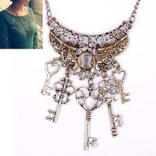 1PC Fashion Vintage Key Long Chain Pendant Sweater Necklace Women's Jewelry