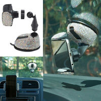 Universal Shiny Rhinestone Car Windshield Phone Holder Air Vent Mount Bracket