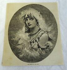1882 magazine engraving ~ GENIUS OF THE SNOW