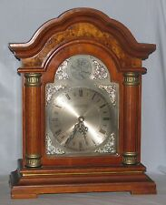 Wood Mantle Clock Programable Quartz Movement Westminster Chime Strike