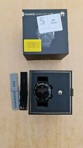 Huawei Watch GT 2 46mm Black Stainless Steel Case with Black strap