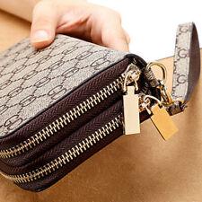 Women Leather Wallet Clutch Phone Card Holder Zip Purse Large Capacity Handbag