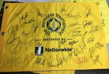 2018 Memorial Tournament Field Signed/Autographed Pin Flag Rose Fowler Stenson