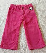 Gymboree Panda Academy toddler girls 2t pink corduroy pants adj waist CUTE!!