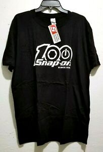 NEW Snap On Tools Men's Black T-Shirt 100th Anniversary FREE SHIPPING to USA