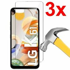 3x Clear Case Friendly Tempered Glass Screen Protector for LG K61