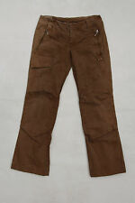 DONDUP ROSCREA Rust Brown Cargo Combact TROUSERS PANTS ITALY IT 38 UK 6/8 Loose