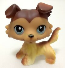 LPS Hasbro Littlest Pet Shop #58 Brown Collie Dog Puppy Blue Eyes Animal Toy