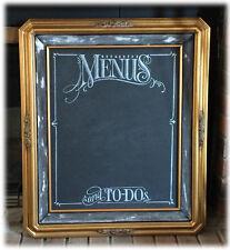 Large French Gold Leaf Framed 16 x 20 Handlettered Chalkboard Art Memo Board