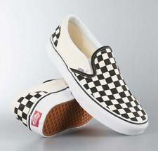 Classic Black White Plaid Womens Vans Checkerboard Slip on Mens Trainers Shoes