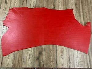 SHINY LEATHER SHOULDER -  RED 3 - 3.5mm