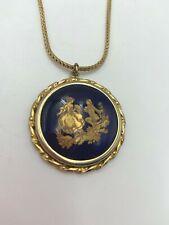 Vintage Hand Painted Limoges Pendant Necklace France