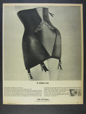 1963 Lily of France Hi-Waist Girdle photo 'It skinnys you.' vintage print Ad