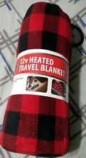 12 v heated travel blanket with cover/bag.