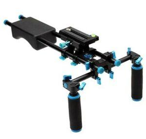 DSLR Rig Kit Shoulder Mount Rig with Follow Focus and Matte Box C-shaped Bracket