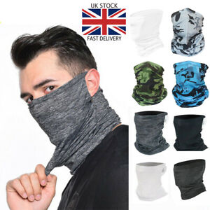 Face Mask Tube Neck Scarf Snood - Cycling Bike Sport Covering Plain Camo Paisley