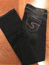@  Silver womens TUESDAY   dark Blue Jeans Sz. 16  1/2 Boot cut